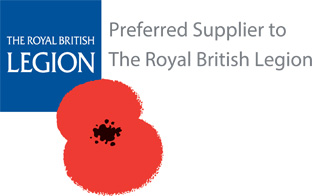 Preferred supplier to the Royal British Legion